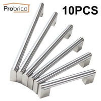 Probrico 10 PCS Boss Bar Furniture Cabinet Handle Stainless Steel Diameter 14mm Kitchen Door Pull Drawer Knob CC 96mm~320mm
