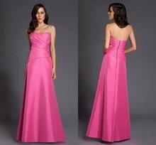 Short Prom Dresses Fashion Edle Elegante A-line Bodenlangen Taft Kleid Lange Sleeveless Abend-formales Kleid Pleats Trägerlos
