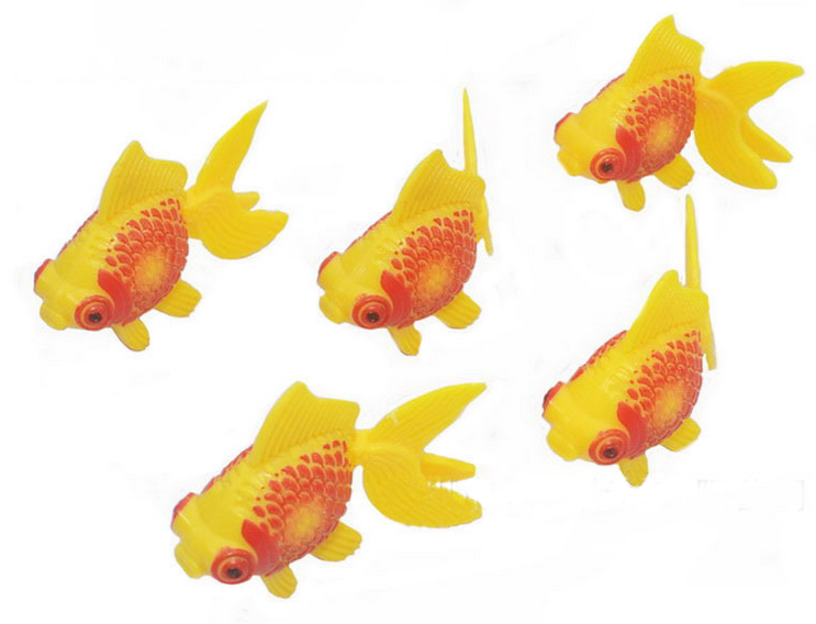 Hot Style Brio Novelty 3 pcs/set Never Damage Cute Gold Fishes Model Swimming For Freedo ...