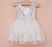 New Baby Girls Sequined Vest Dresses, Princess Kids Bridesmaid Party Dance Wear 5 pcs/lot,Wholesale