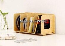 Estantería sencilla de madera para discos, estantes de madera para DVD, para dormitorio, dormitorio, estantería de almacenamiento, Boekenkast