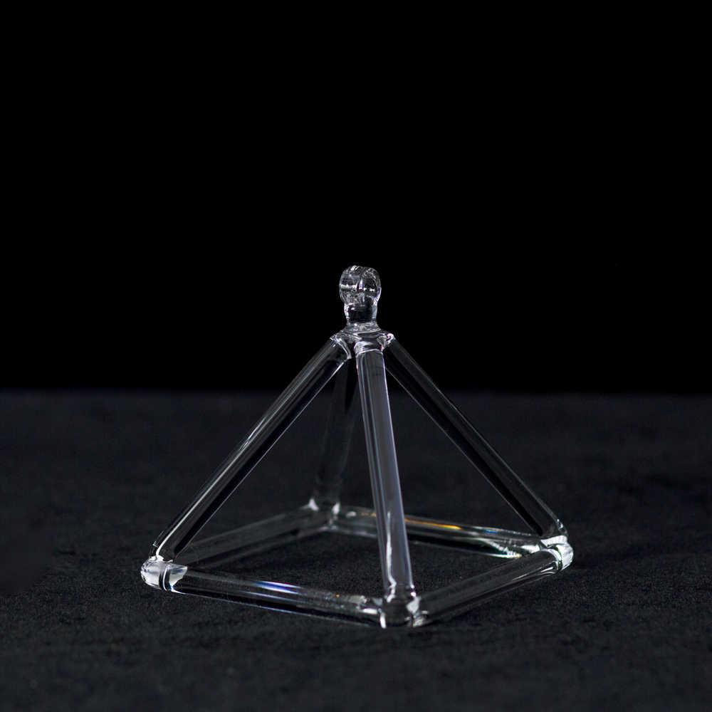 3 סנטימטרים קריסטל שירה פירמידת עבור אנרגיה ריפוי & קוורץ שירה ארבעון