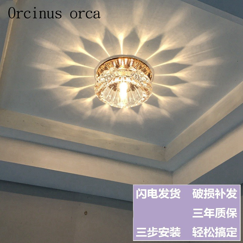 The living room ceiling lamps crystal background wall lamp LED corridor lamp corridor entrance NIUYAN lights Postage freeThe living room ceiling lamps crystal background wall lamp LED corridor lamp corridor entrance NIUYAN lights Postage free