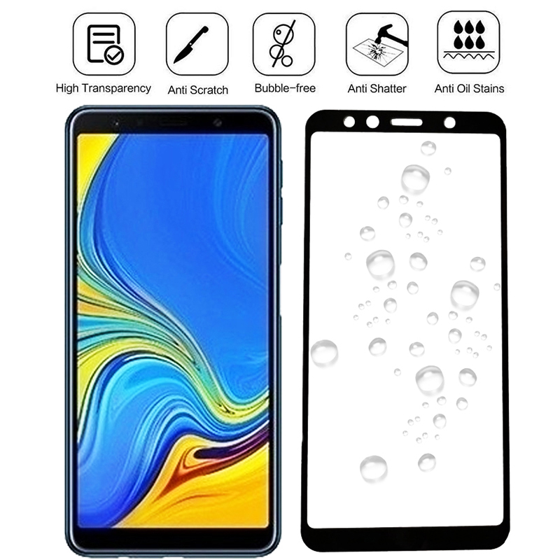 Protective <font><b>Glass</b></font> On For <font><b>Samsung</b></font> <font><b>Galaxy</b></font> J6 <font><b>J4</b></font> Plus <font><b>2018</b></font> Full Cover Display Screen Protector Tempered <font><b>Glass</b></font> trempe verre vidrio 9H image