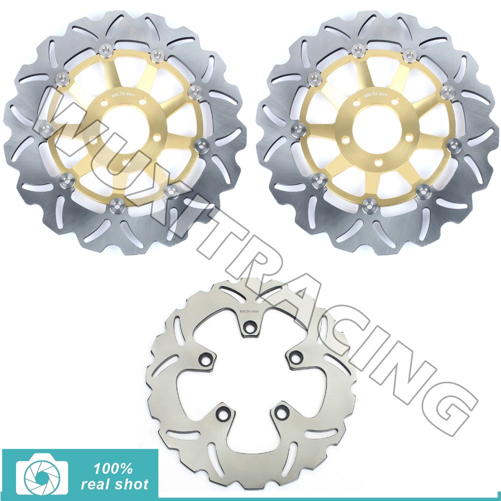 Front Rear Brake Disc Rotor for Suzuki GSF BANDIT / S 600 94-04 95 96 97 00 01 RF R 400 600 SV-S 650 99-02 GSX F 600 750 98-03 94 95 96 97 98 99 00 01 02 03 04 05 06 new 300mm front 280mm rear brake discs disks rotor fit for kawasaki gtr 1000 zg1000