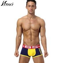 2017 Fashion Brand Comfortable Boy Boxers Shorts Breathable High Quality Cotton Gay Underwear Man Cueca Slip Sexy Underwear Men