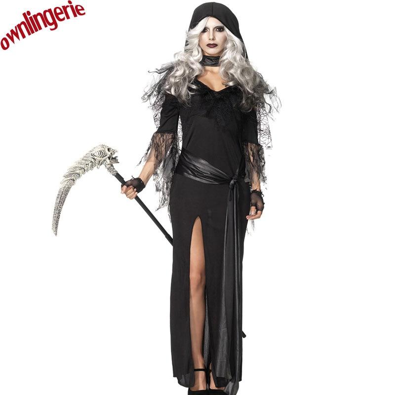 2017 New Hot Black Dark Devil Fallen Angel Costume Women