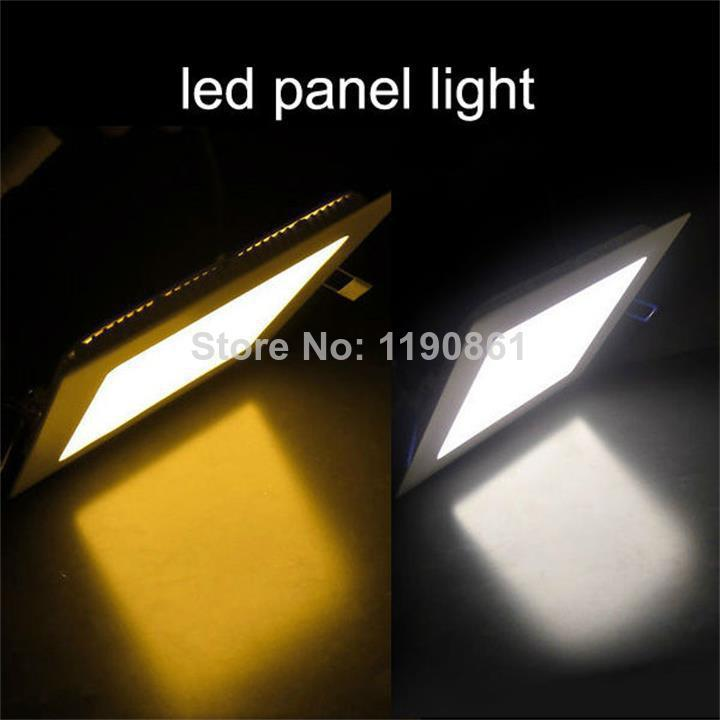 Free shipping 15W led panel lights 1500lm warm white square suspended smd led ceiling spot panels lighting bulb