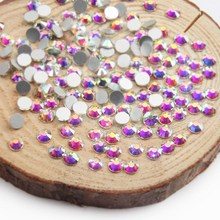 Elessical 1440pcs SS3-SS10 Crystal AB Rhinestones Nail Strass Flatback 3D Nail Art Decorations Clear Half Bead Nails Accessories