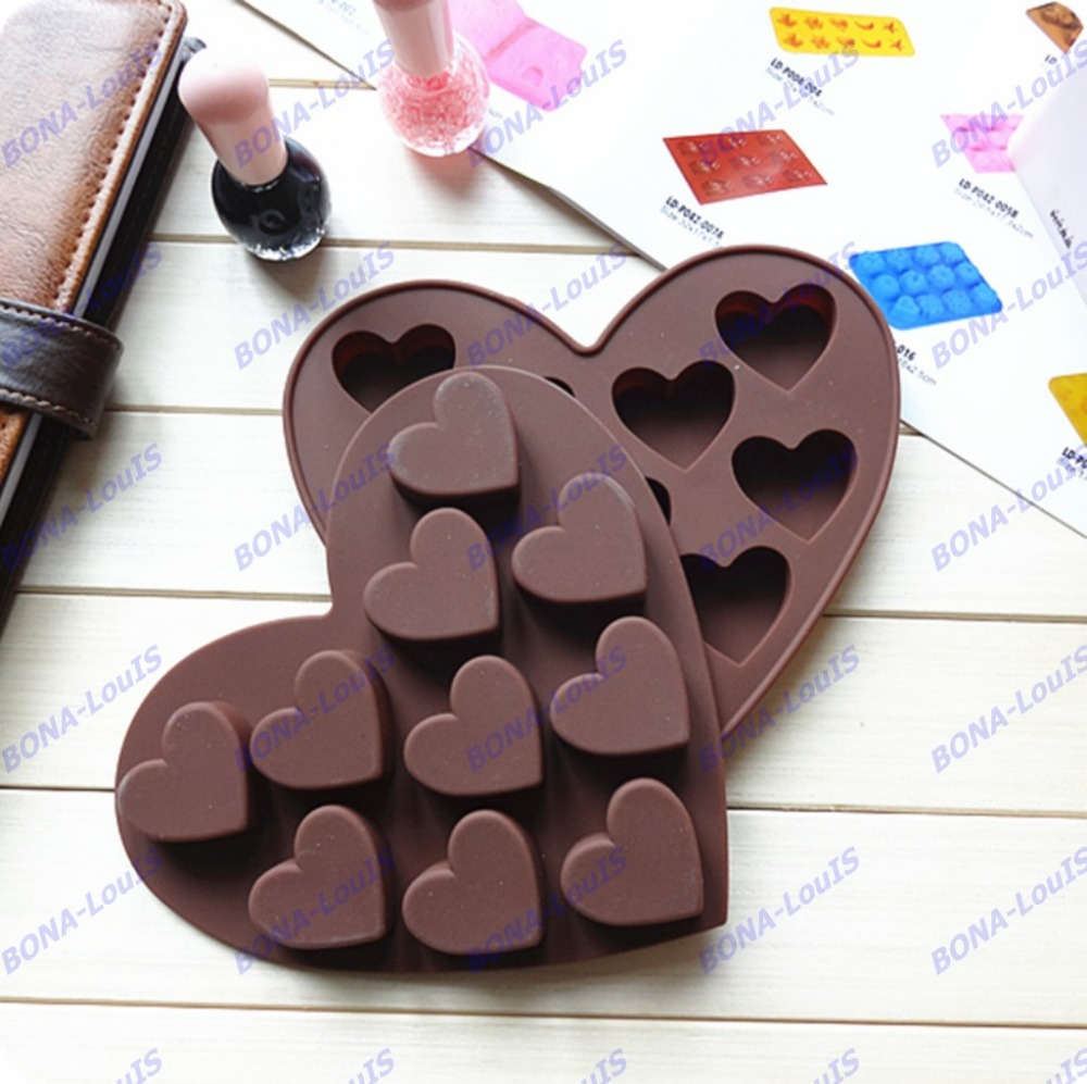 2pcs Valentine S Day Love Heart Bakeware Silicone Cake Mold Ice