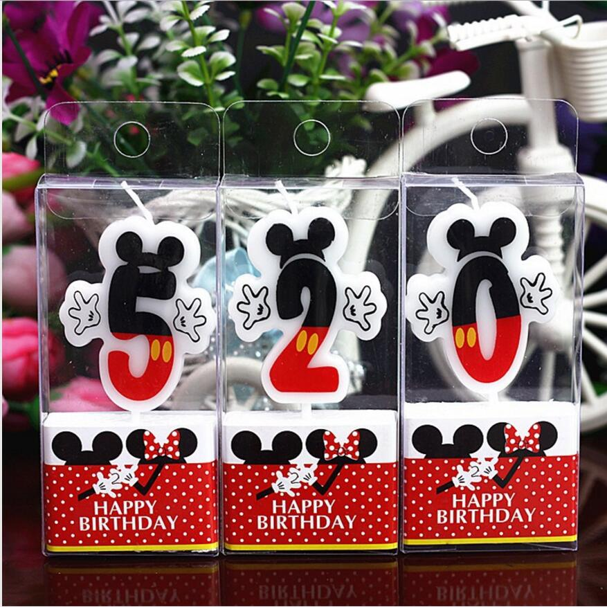 Birthday Number 0 1 2 3 4 5 6 7 8 9 Candles Cartoon Boy&Girl Happy Birthday Candle Cake Cupcake Topper Party Decoration Supply