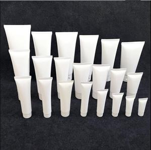 Image 4 - 100 pcs Trasporto Libero 50 100 120 150 200 g Bianco Imballaggio di plastica Tubo Bottiglia di Vibrazione Tappo di Gel crema lozione contenitore vuoto di tenuta