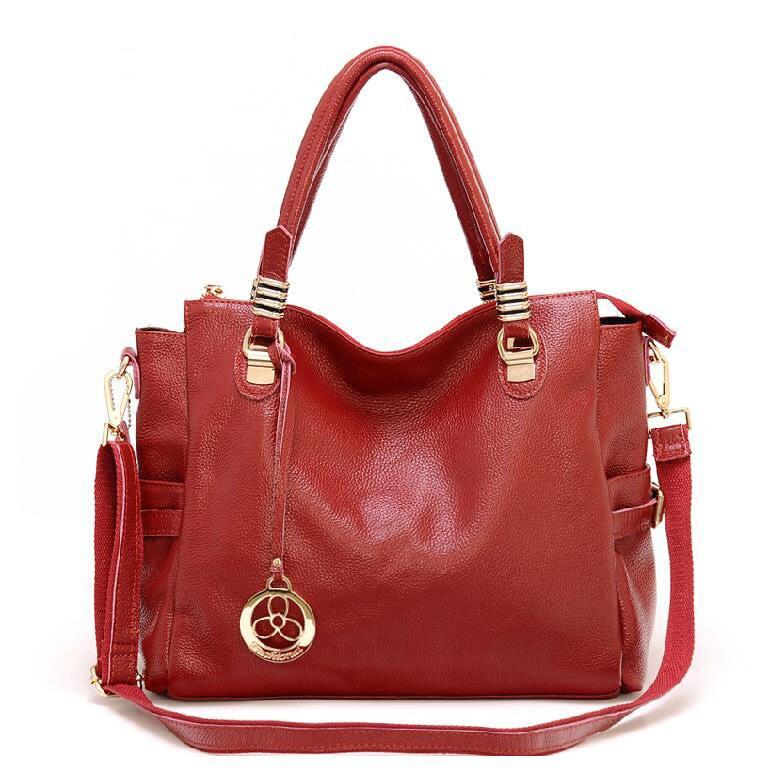 New arrival shoulder bags fashion cowhide women handbag crossbody tote genuine leather bag 2017 women messenger bags hot bolsas dream 2016 new arrival plaid cowhide handbag women s bag