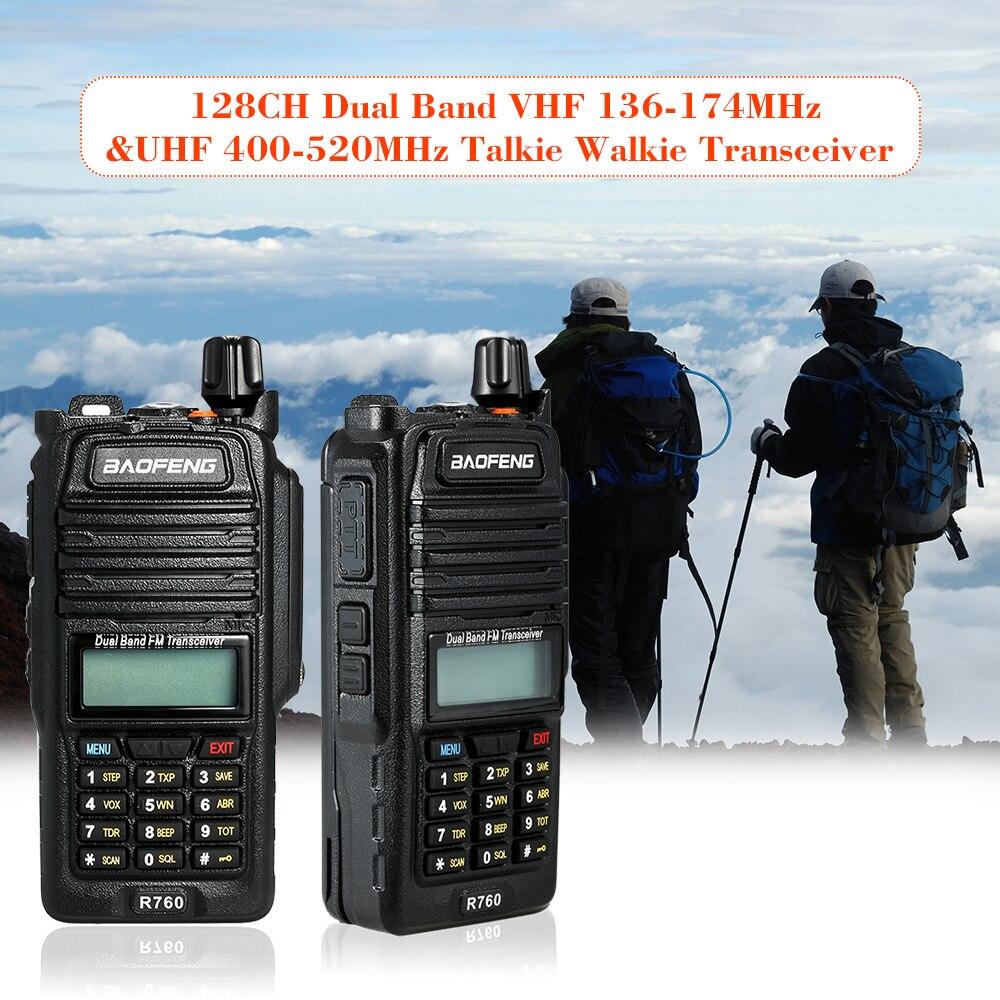 128ch Dual Band Vhf 136-174 Mhz & Uhf 400-520 Mhz Talkie Walkie Transceiver Two Way Radio Tragbare Handheld Wasserdichte