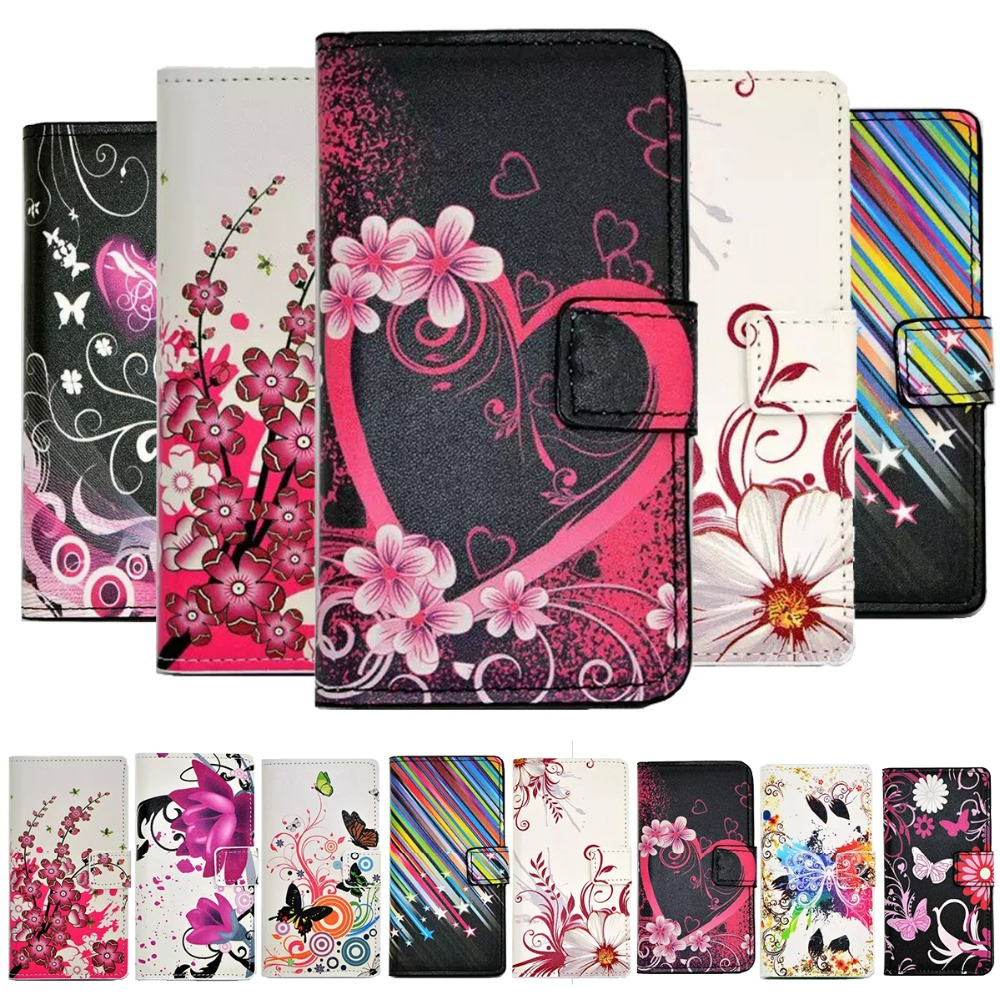 Luxury heart stars leather case for samsung galaxy s4 mini for Housse samsung galaxy s4