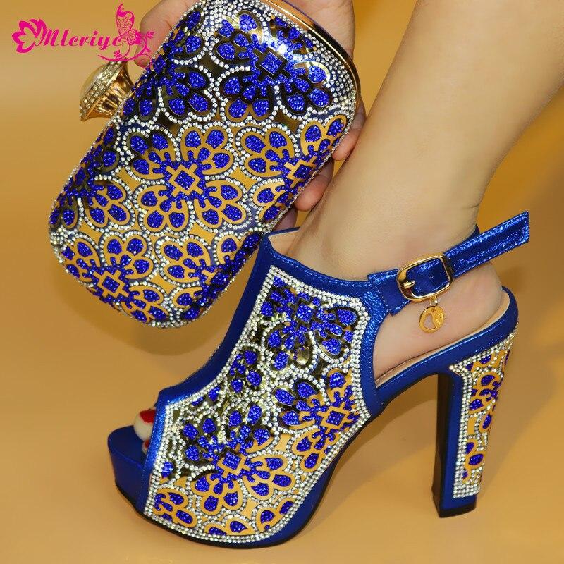 a11c51ce82f59 Envío A19 Juego Nueva púrpura Y oro De 2018 Bolsos Color Africana Con Azul  A Azul 3 Zapatos Mujer Italiano rojo ...