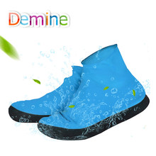 Demine Shoe Covers Waterproof Rain Shoes for Men Boots Elasticity Foldable Rainy Blue Overshoes Protector Accessories Easy Carry(China)
