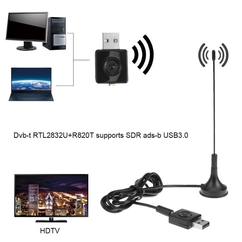 Mini USB 3.0 Port DVB-T Digital Terrestrial TV Signal Receiver Tuner Stick Dongle Video Decorder Antenna for Computer Laptop