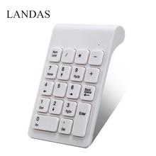 лучшая цена Landas USB Numpad keyboard Numeric Keypad For Android Smart TV Mini 2.4G Wireless Keyboard Digital For Samsung Account Bank