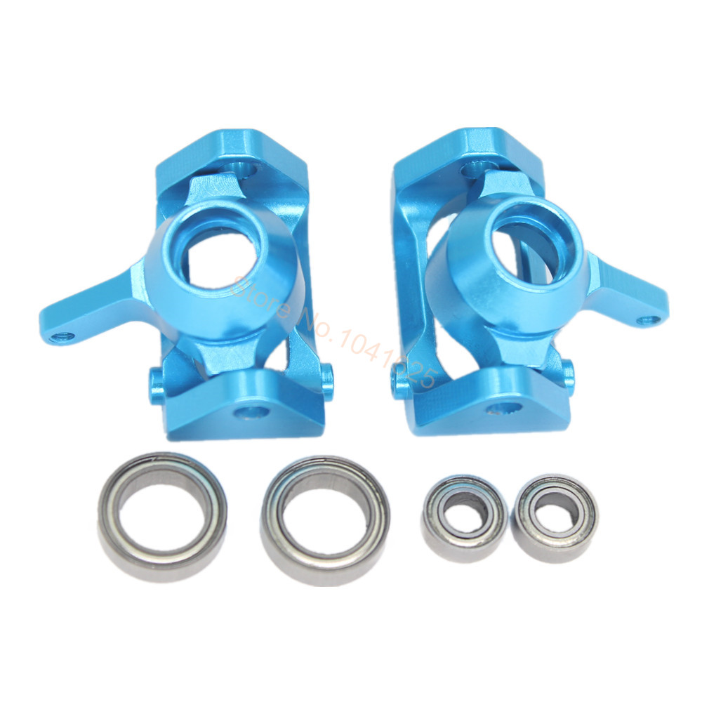 For WLtoys A959 Aluminum Front Steering Hub L/R Base C Carrier A959-05 Upgrade Parts 1/18 RC Car A969 A979 Buggy Replacement aluminum steering knuckle hub kit lower susp arm ball bearing for rc wltoys a979 1 18 off road monster truck upgrade parts