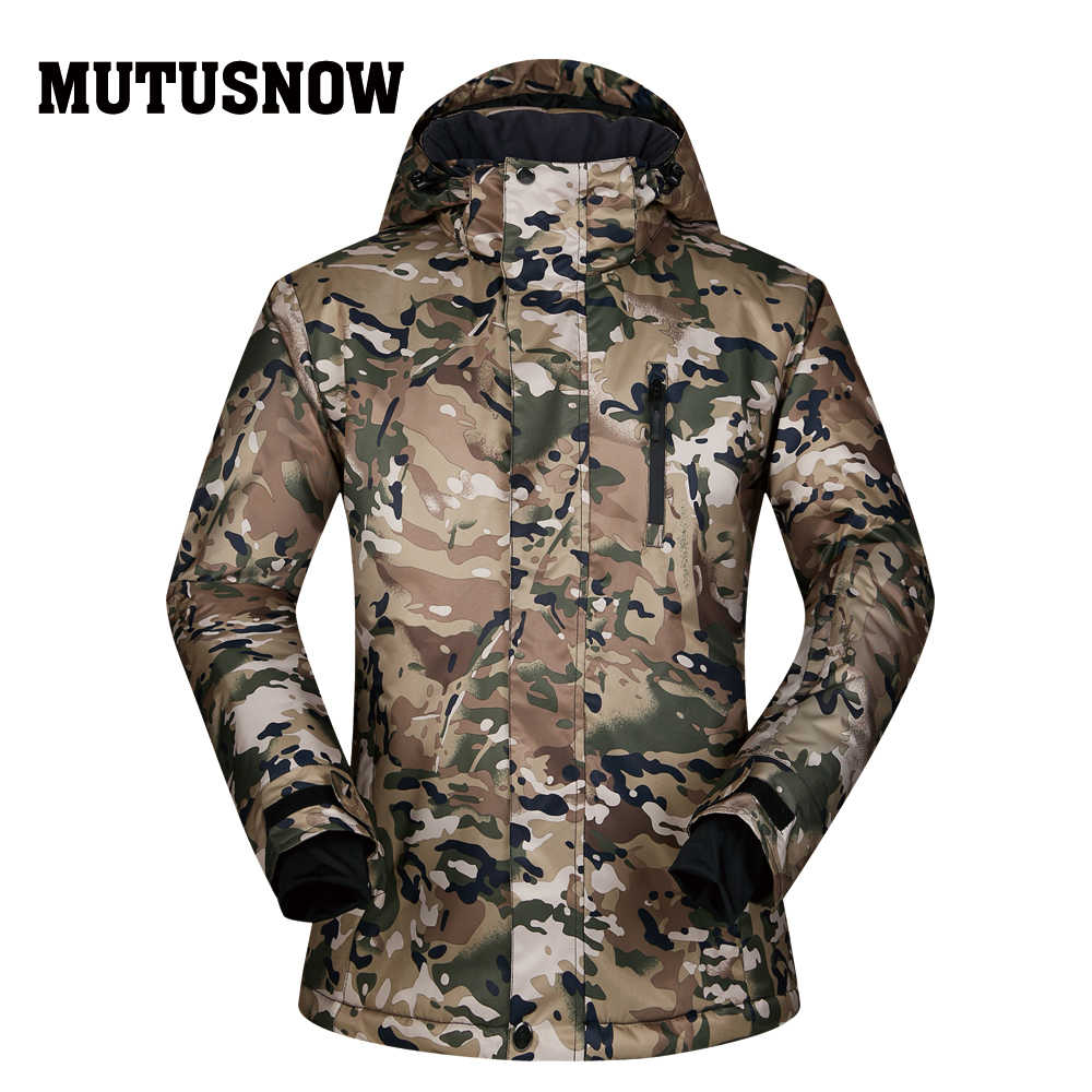 Ski Jackets Men Brands Windproof Waterproof Breathable Thick Warm Clothes Coat Winter -30 Degree Skiing And Snowboarding Jackets