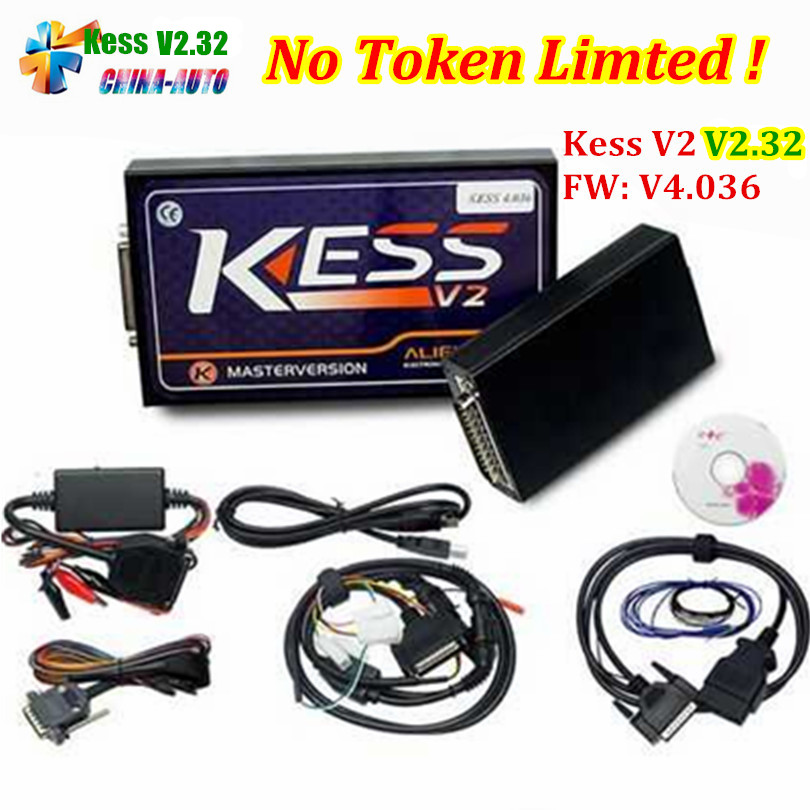 HW V4.036 KESS V2 V2.32 V2.30 OBD2 Manager Tuning Kit Master Version No Tokens Limited ECU Chip Tuning Tool 2017 newest ktag v2 13 firmware v6 070 ecu multi languages programming tool ktag master version no tokens limited free shipping