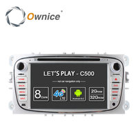 Ownice C500 4G LTE Android 6.0 Octa 8 Çekirdekli Araba DVD Oynatıcı GPS FORD Mondeo için S-MAX Connect ODAK 2 2008 2009 2010 2011 32G ROM