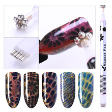 1 Pc Dual-ended Cat Eye Magnetic Stick For Cat Eye UV Gel Flower Strip Mixed Pattern Nail Art DIY Design Decoration Tool(China)