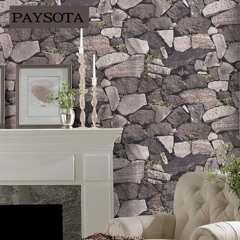 PAYSOTA moderne Creative pierre papier peint canapé salon chambre TV fond papier peint