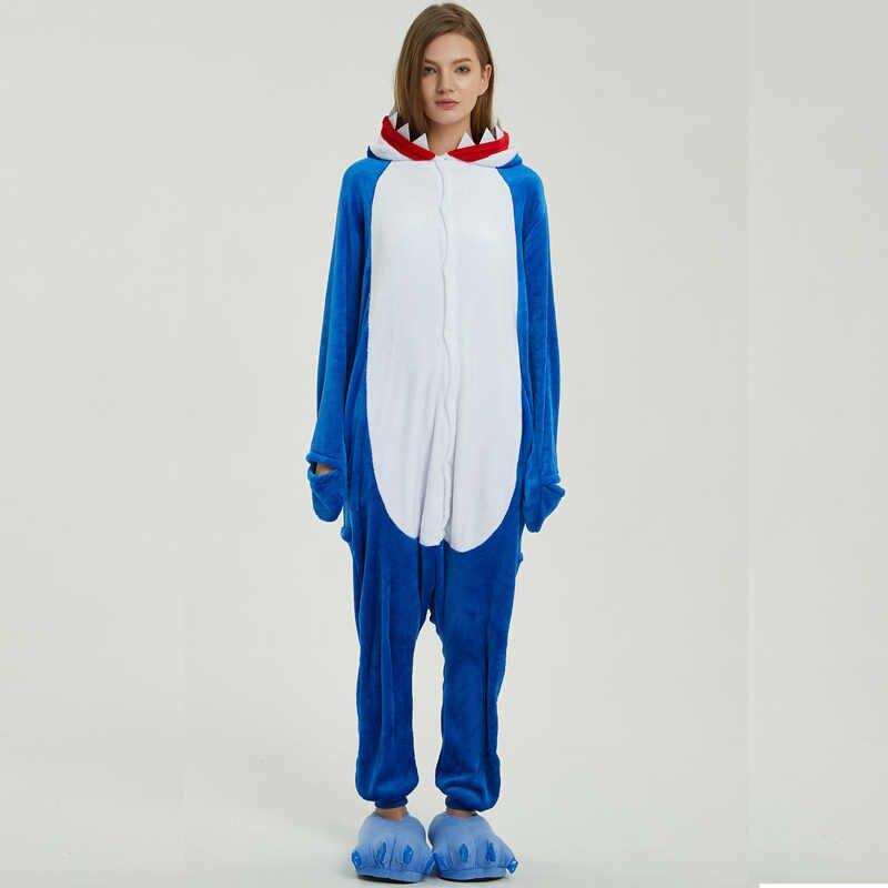 ... Фланель Акула Kigurumi животных костюм комбинезоны для взрослых боди  пижамы для шоу Для мужчин Для женщин ... abc8643ee6aeb