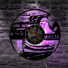 LED Wall Clock Modern Design Bus Clocks with Backlight 3D Decorative Hanging Light Lamp Wall