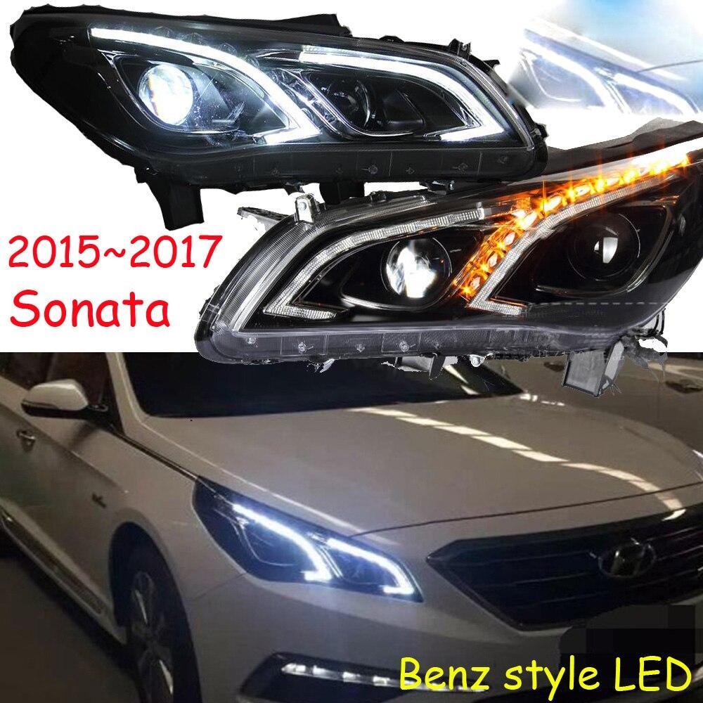 HID, 2015 ~ 2018, style de voiture, phare Sonata, Solaris, accent, Elantra, Genesis, i10, i20, santa fe, tucson, lantra; lampe frontale Sonata