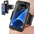 Новый Горячий Запуск Бег Крышки Случая Armband для Samsung Galaxy S7 S7 Edge Телефон Защитный Спорт Тренажерный Зал Пояс Запястье Ремешок Случаях