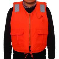 Профессиональный надувной взрослый спасательный куртка с карманом на молнии свисток дрейфующий купальник для плавания Рыбалка спасательн...
