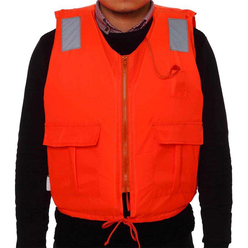 with Life Whistle Camping & Hiking Boat Work Outdoor Drifting Adult Life-saving Vest Waterproof Adjustable Reflective Jacket Safety Vest