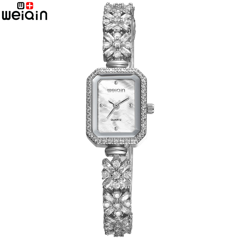 WEIQIN Fashion Flower Jewelry Bracelet Band Watch For Women Travel Leisure Crystal Diamond Woman Wristatch Relogio Feminino weiqin new 100