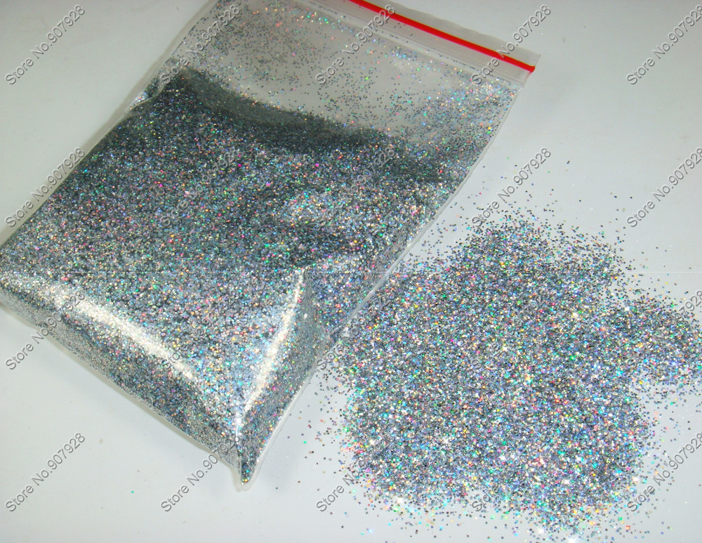 50gram-0.4MM 015 Laser Holographic Silver Color Shining Nail Glitter Dust Powder for Nail Art DIY decoration and Glitter Crafts