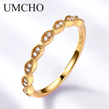 UMCHO Real Pure 925 Sterling Silver Rings For Women Infinity Forever Love Anniversary Promise Ring Silver 925 Jewelry(China)