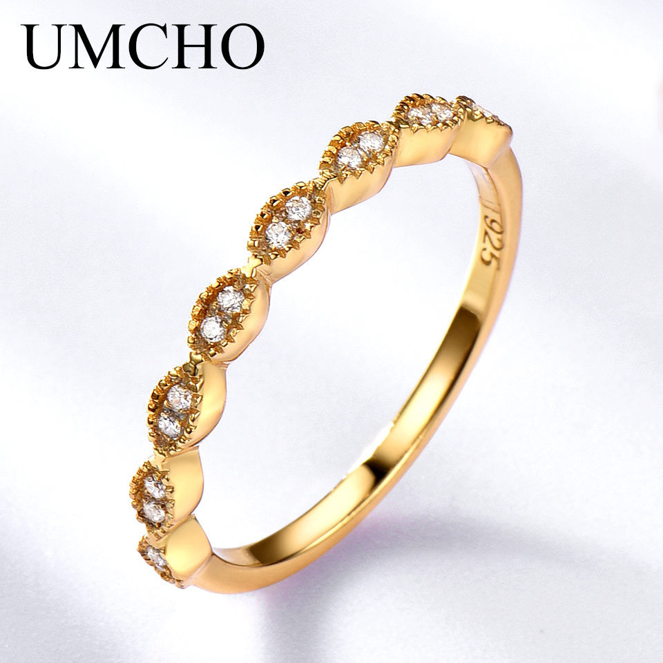 UMCHO Real Pure 925 Sterling Silver Rings naisille Infinity Forever Love Anniversary Promise Ring Silver 925 korut