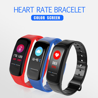 Azexi Smart Wristband IPX67 Waterproof Heart Rate Monitor Fitness Tracker Colorful Touch Screen Bracelet For Android
