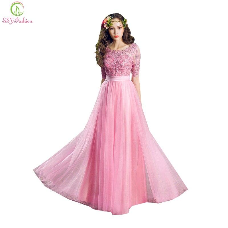 Ssyfashion Long Sleeve Wedding Dresses The Bride Elegant: Aliexpress.com : Buy SSYFashion Long Evening Dress Bride