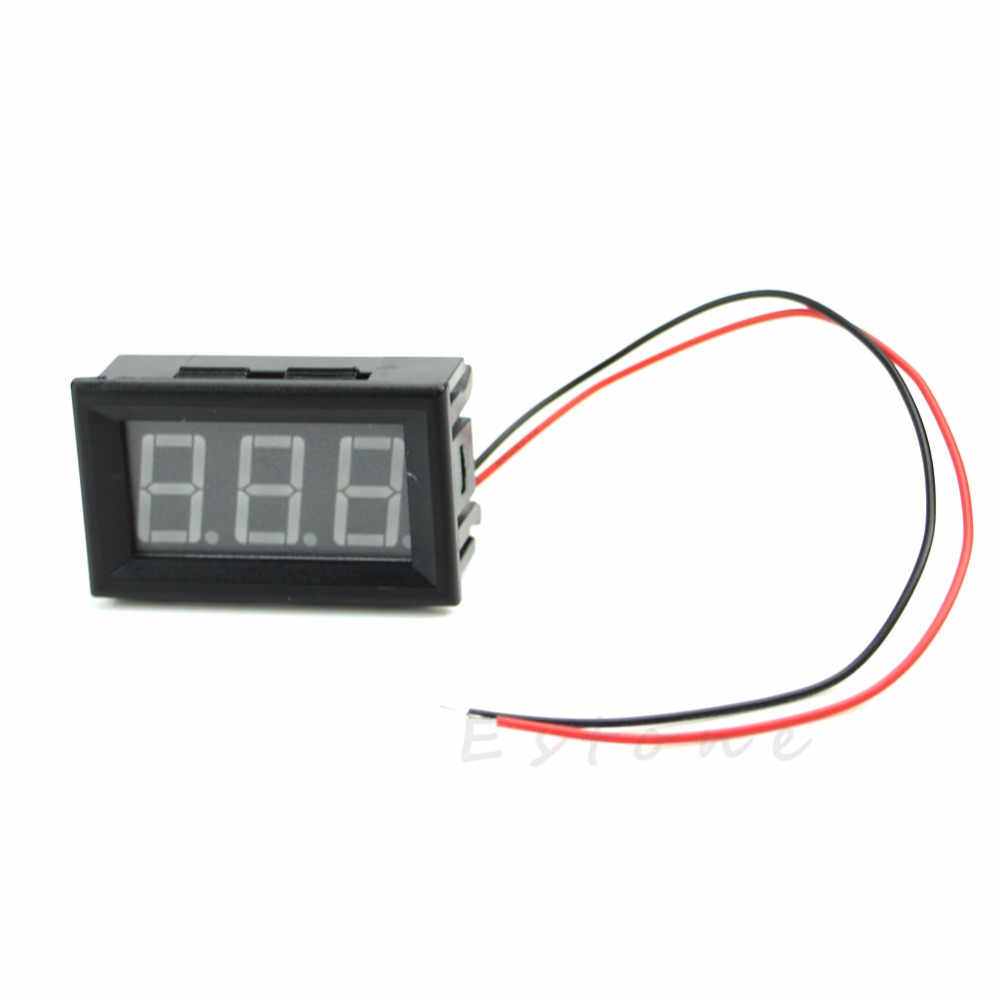 DC 5-120V 0.56 2 Wire LED Digital Panel Volt Meter Voltage Voltmeter Car Motor New 2017