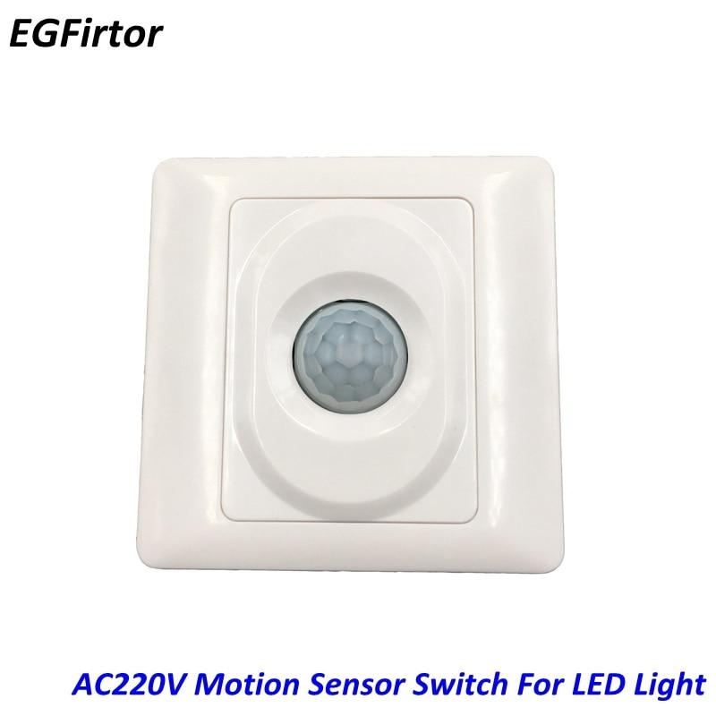 AC Power 90-250V Adjustable Motion Sensor Swithch Infrared Detector For Led Lighting