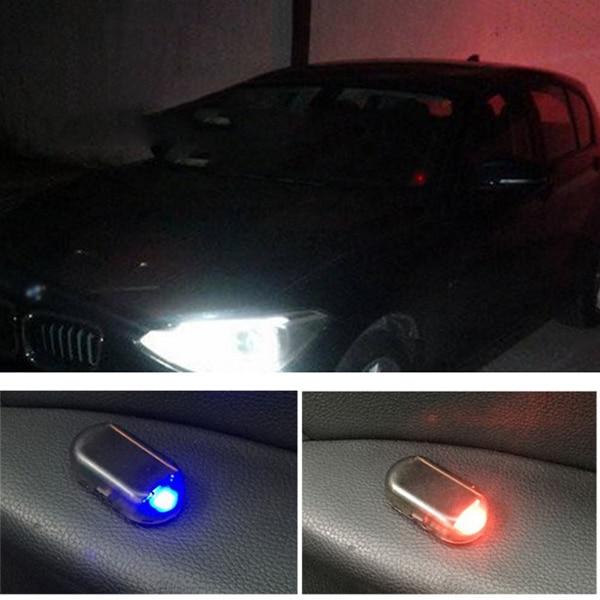 fake solar car alarm led light auto security system anti. Black Bedroom Furniture Sets. Home Design Ideas