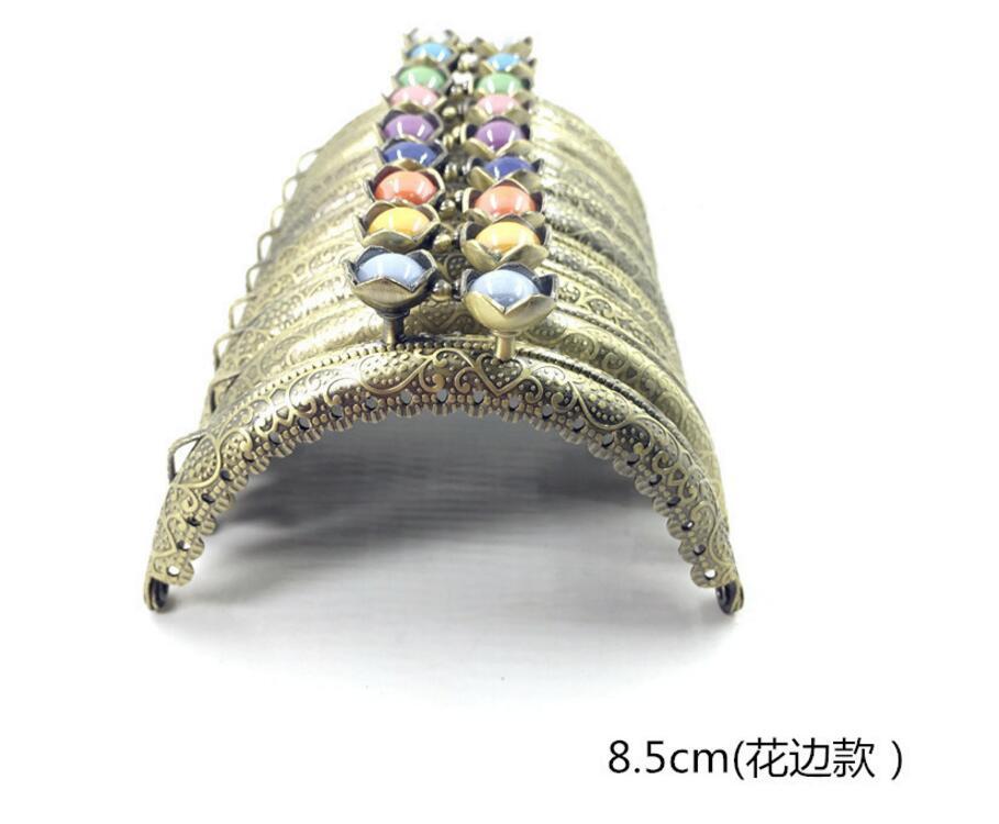 20шт/10 шт 8,5 см сумка в форме головы лотоса, застежка в виде поцелуя, светильник с золотым полукольцом, металлическая рамка для кошелька, аксессуары для шитья
