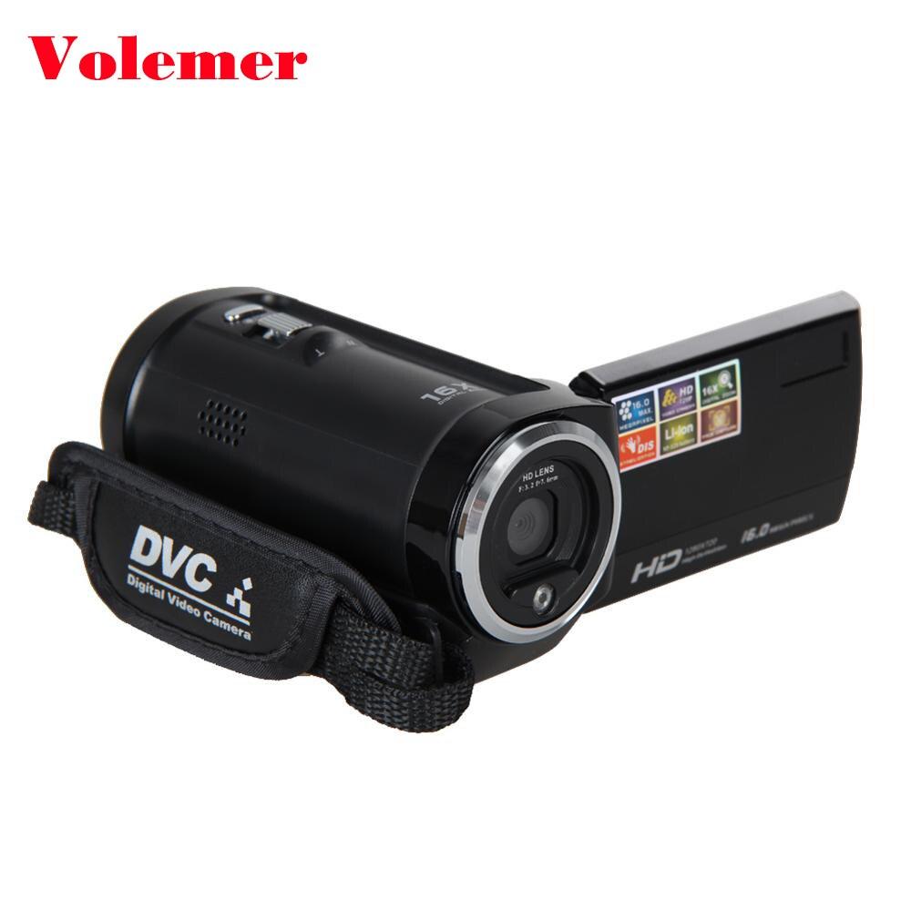 Volemer Portable Camera Full HD 720P 16MP Consumer Digital Video Camcorder DV DVR 2.7