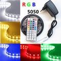 5m10M 5050 LED Strip RGB 30LEDs/m IP20 Led Diode Tape RGB 5050 SMD +44 keys IR Remote+12V Power Adapter