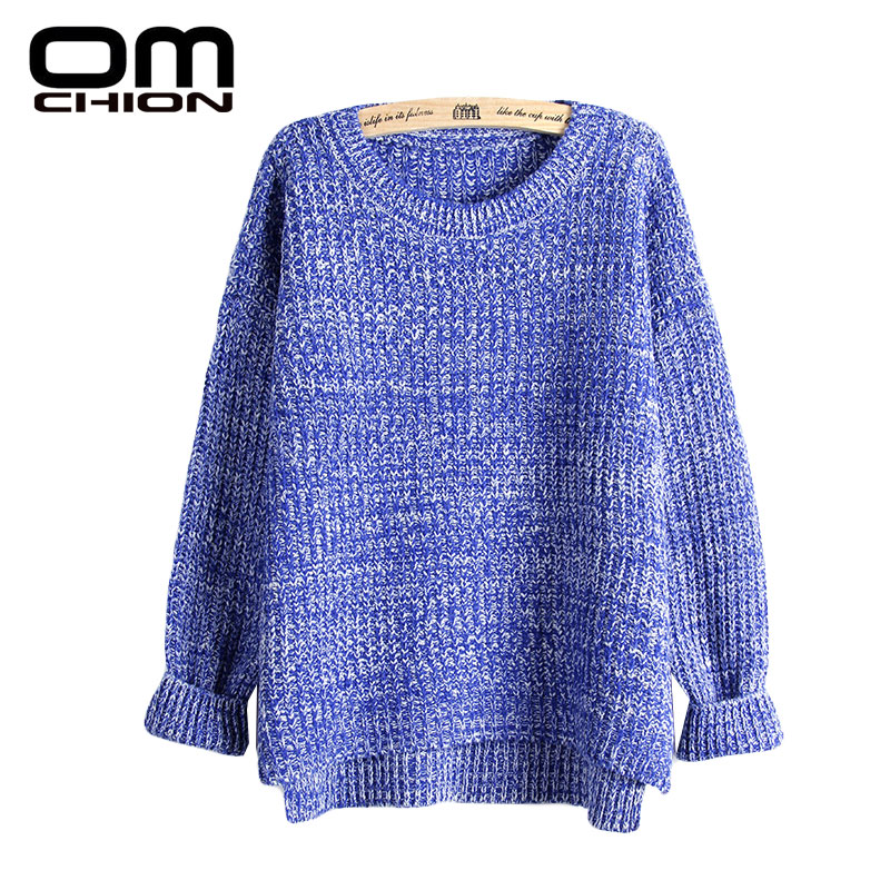 Sueter Mujer 2016 Autumn Winter Fashion Split Swallowtail Female Loose Sweaters Round Neck Women Sweaters And