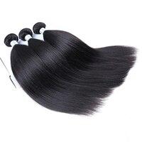 Light Yaki Straight Human Hair Remy Hair Extension Natural Black Brazilian Hair Weave Bundles 100% CARA Human Hair Extensions