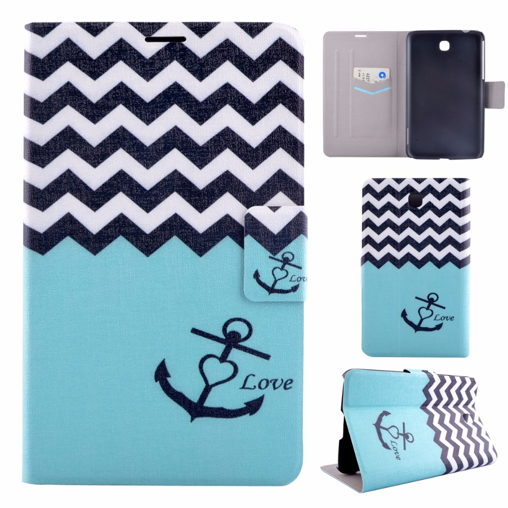 Tablet Painted Flip Leather Cases for Samsung Galaxy Tab 3 7.0 T210 T211 P3200 P3210 TAB3 Covers Housing Holder Bag Shell Shield